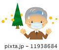 おじいさん 花粉症 マスク 辛い 11938684