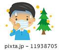 花粉症 辛い 男性 マスク【二頭身・シリーズ】 11938705