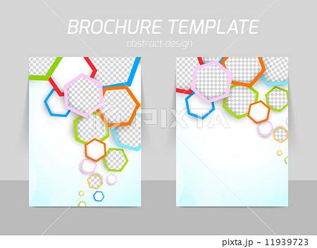 flyer template designのイラスト素材 11939723 pixta