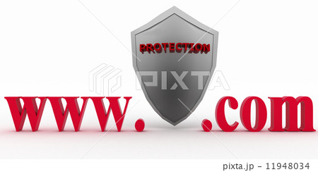 Shield between www and dot com. Conception of protecting from unknown web- pagesのイラスト素材 [11948034] - PIXTA