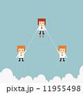 飛ぶ 競合 ジャンプのイラスト 11955498