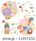 背景素材-お正月 縁起物 飾り 11957232