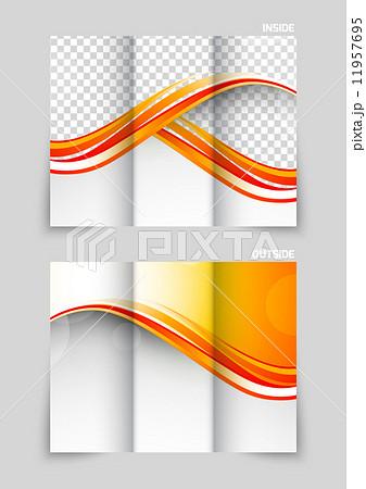 tri fold brochure template designのイラスト素材 11957695 pixta