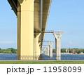 Bridge on the river Volga, Russia 11958099