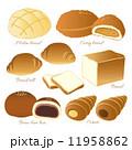 メロンパン ベクター 食べ物のイラスト 11958862