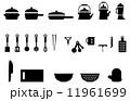 フライパン 調理道具 ベクターのイラスト 11961699