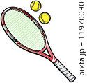 ラケット テニス用品 テニスラケットのイラスト 11970090