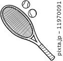ラケット テニス用品 テニスラケットのイラスト 11970091