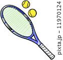 ラケット テニス用品 テニスラケットのイラスト 11970124