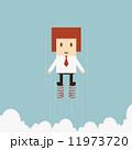 飛ぶ 競合 漫画のイラスト 11973720