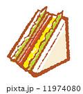 総菜パン サンドイッチ 食べ物のイラスト 11974080