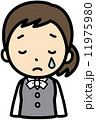 オフィスレディ 悲しむ ベクターのイラスト 11975980