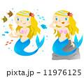 人魚 マーメイド 人魚姫のイラスト 11976125