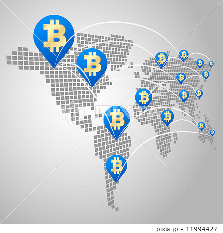 Bitcoin global business concept 11994427