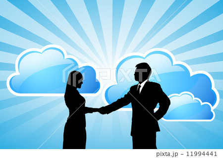 success Business team with cloud computing technology 11994441