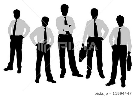 Silhouettes of Businessmen 11994447