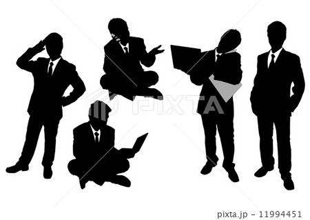 Silhouettes of Businessmen 11994451