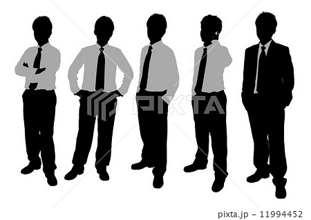 Silhouettes of Businessmen 11994452