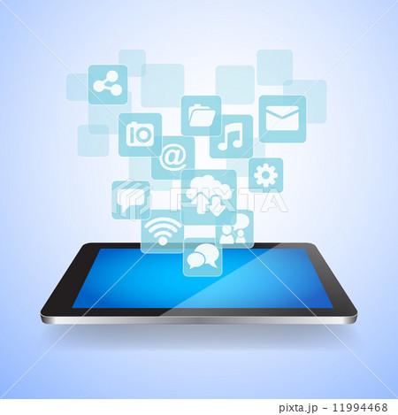 Social Media and Cloud Computing concept 11994468