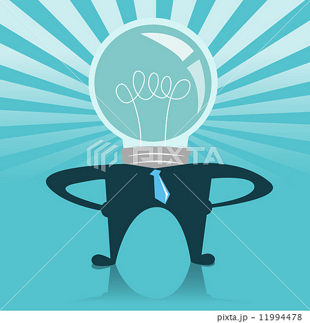 light bulb business man with a glowing light 11994478