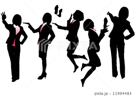 Silhouettes of Business woman 11994483