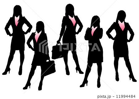 Silhouettes of Business woman 11994484