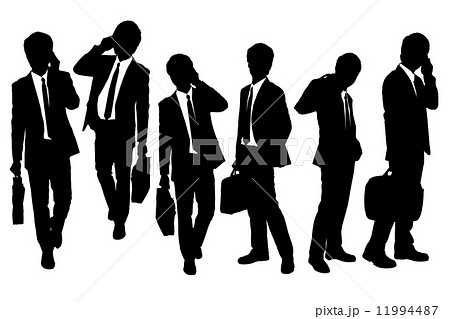 Silhouettes of Business men speaking phone 11994487