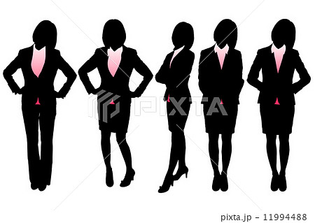 Silhouettes of Business woman 11994488