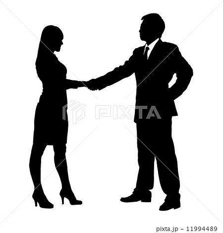Silhouettes of Business team 11994489
