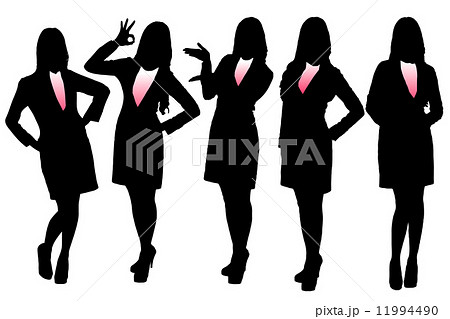 Silhouettes of Business woman 11994490