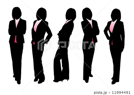 Silhouettes of Business woman 11994491