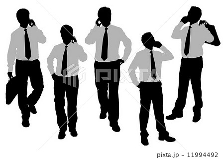 Silhouettes of Business men speaking phone 11994492