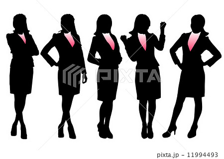 Silhouettes of Business woman 11994493