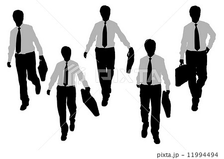 Silhouettes of Business men 11994494
