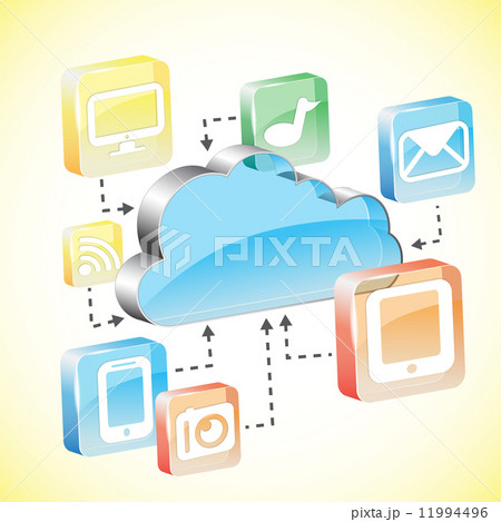 Cloud computing concept 11994496