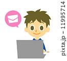 ノートパソコン 子供 パソコンのイラスト 11995714