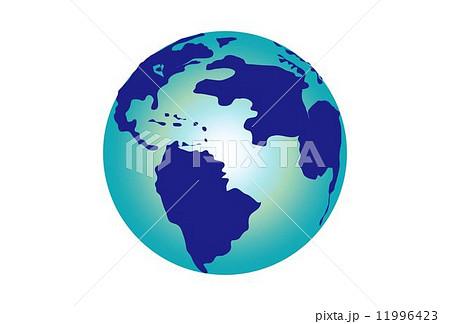 青い丸い地球のイラスト素材 11996423 Pixta