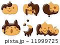 クッキー ビスケット ハロウィンのイラスト 11999725