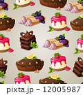 Sweets dessert seamless pattern 12005987