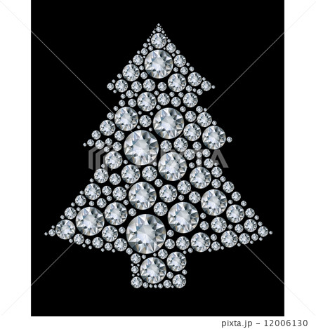 Christmas tree made from diamonds. 12006130