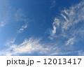 秋の雲 空 青空の写真 12013417