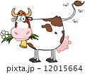 Dairy Cow With Flower In Mouth 12015664