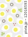 シームレスパターン ゆで卵アパタイザー 12016593