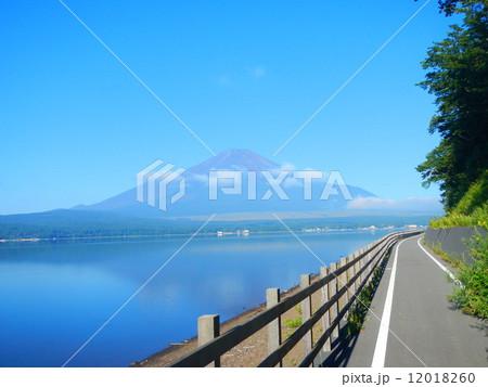 富士山とサイクリングロード 12018260