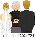 結婚 新婦 花嫁のイラスト 12024724