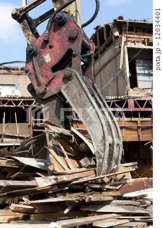 家屋の解体工事現場 12034401