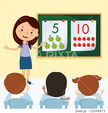 teacher teaching in the classのイラスト素材 12046873 pixta