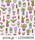 Home plants seamless pattern 12048606