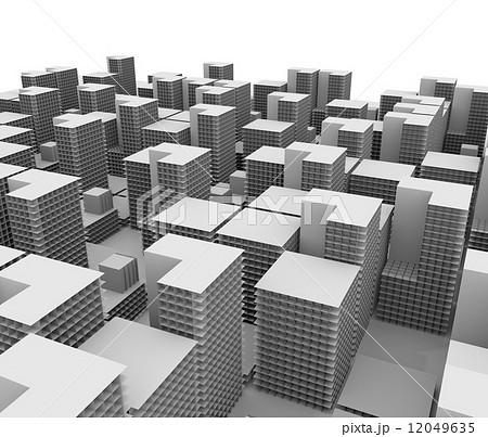 ビル群の俯瞰イメージのイラスト素材 [12049635] , PIXTA