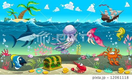 Funny scene under the sea 12061118 pixta funny scene under the sea voltagebd Gallery